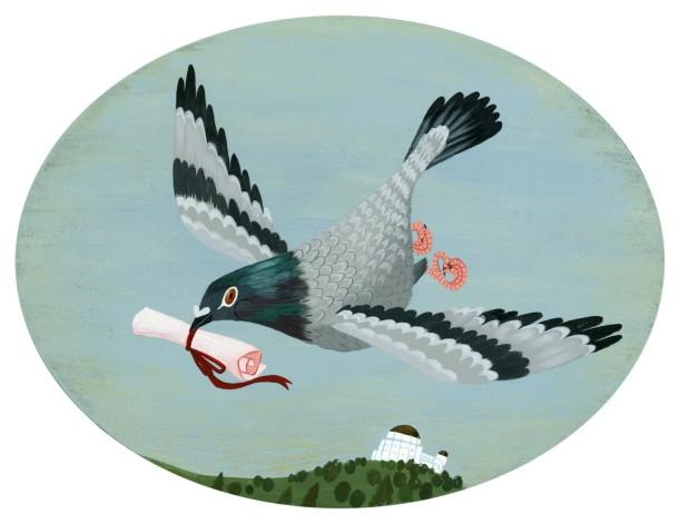 posta güvercini brigette ballager carrier pigeon